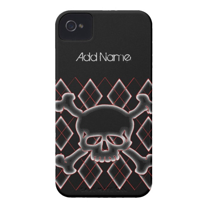 Custom Argyle Skull Blackberry Cases