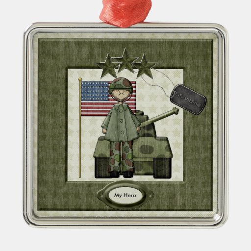 Custom Army Christmas Ornament