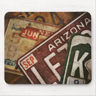Custom Art Antique License Plates Mousepads