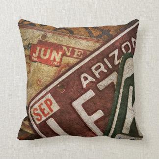 Custom Art Antique License Plates Pillows