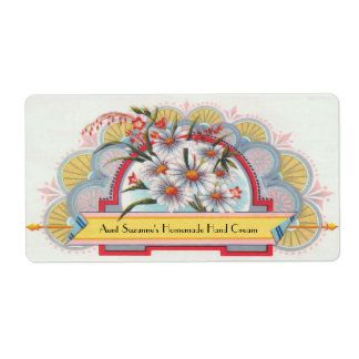Custom Art Deco Floral Label