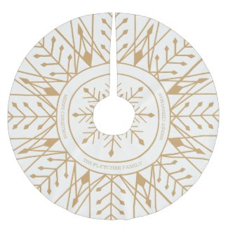 Custom Art Deco Snowflake Holiday Tree Skirt