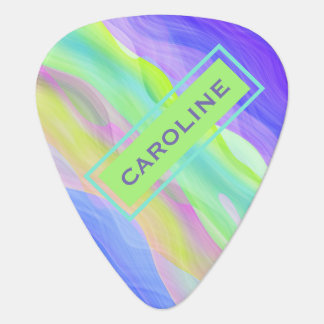 Custom Artistic Abstract Retro Cool Waves Pattern Guitar Pick