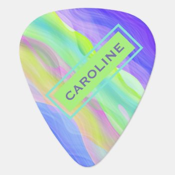 Custom Artistic Abstract Retro Cool Waves Pattern Guitar Pick by All_In_Cute_Fun at Zazzle