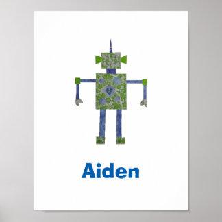 Custom Arty Robot Poster