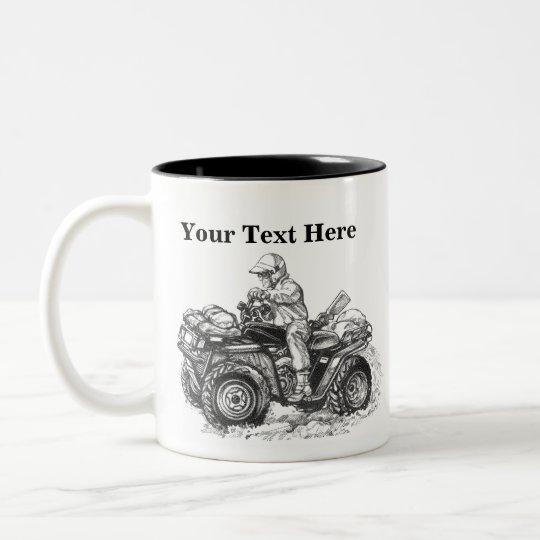 Custom ATV Gift Two-Tone Coffee Mug