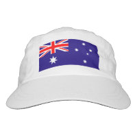 Custom Australian flag knit and woven sports hats