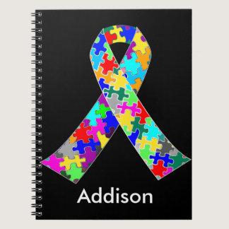 Custom Autism Awareness Ribbon Notebook