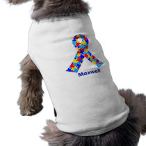 Custom Autism Awareness Ribbon T-Shirt
