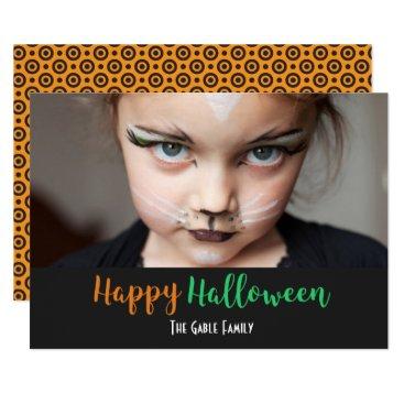 Halloween Themed Custom Autumn Happy Halloween Photo Card
