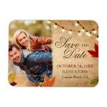 Custom Autumn Wedding Save the Date Photo Magnets