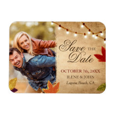 Custom Autumn Wedding Save The Date Photo Magnets at Zazzle
