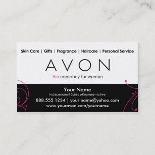 Avon business cards templates zazzle custom avon business cards accmission Images