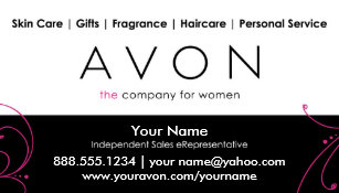 Avon business cards zazzle custom avon business cards reheart Choice Image