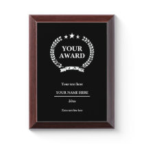 Custom award plaques for achievements and more