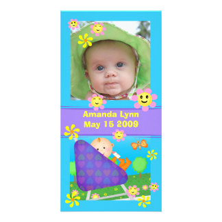 Custom Baby Announcement Photo Card