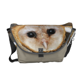 Custom baby barn owls messenger bag
