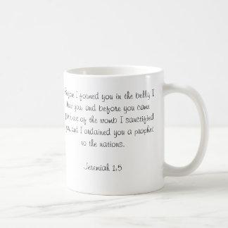 Custom Baby Bible Verse Photo Mug-Jeremiah 1:5 Classic White Coffee Mug