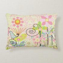Custom Baby Bird Garden Accent Pillow