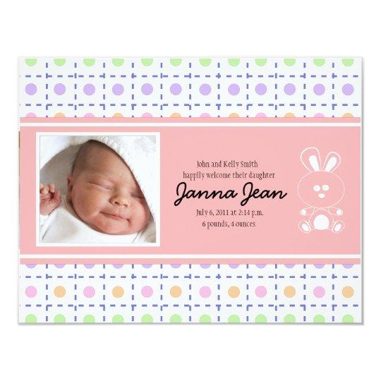 Custom Baby Birth Announcement