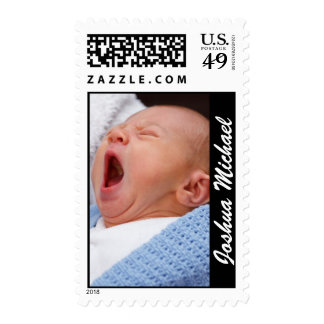 Custom Baby Birth Announcement Photo Stamps