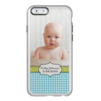 Custom baby boy photo name and birthday keepsake incipio feather® shine iPhone 6 case