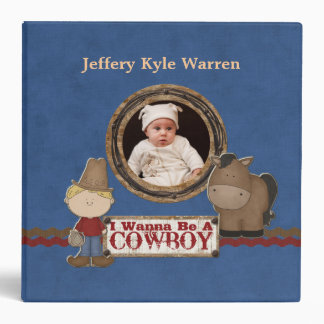 Custom Baby Boy s Cowboy Western Album 3 Ring Binders