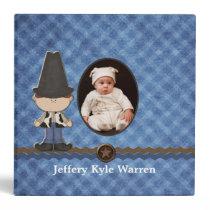 Custom Baby Boy's Western Theme Album 3 Ring Binder