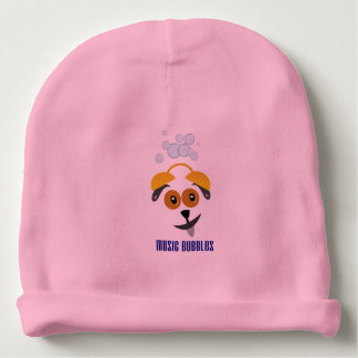 Custom baby Cotton Beanie with motive for dog