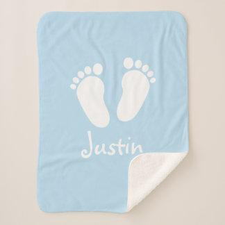 Custom baby feet newborn sherpa fleece blanket