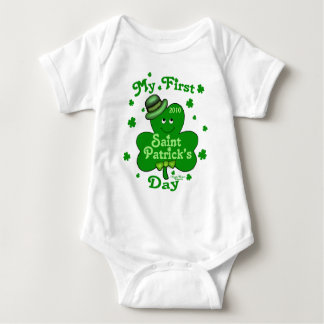 Custom Baby First St. Patrick's Day Baby Bodysuit