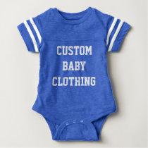 Custom Baby Football Bodysuit Creeper Blank