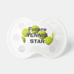 Tennis pacifiers zazzle custom baby gift future tennis star pacifier negle Image collections