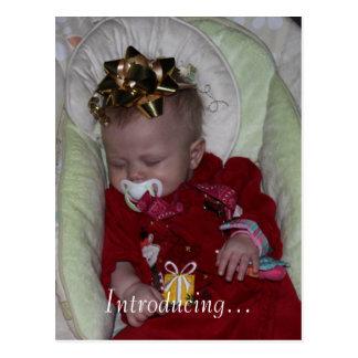Custom Baby Girl Boy Birth Adoption Announcement Postcard
