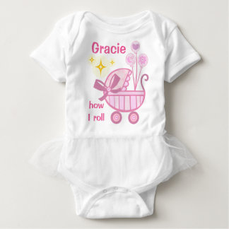 Custom Baby Girl Funny Ballerina Tutu Bodysuit