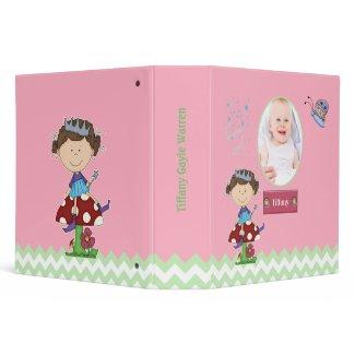 Custom Baby Girl's Fairy Album 3 Ring Binder