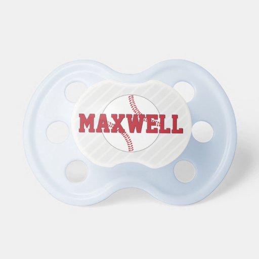 custom baby pacifier baseball design baby boy booginhead