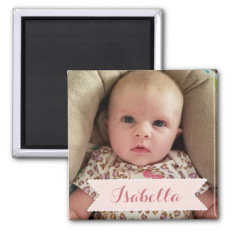 Custom Baby Photo and Name Picture Magnet