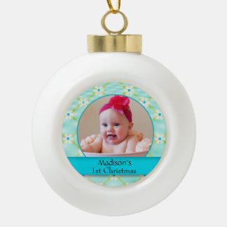 Custom Baby Photo Ceramic Ball Ornament