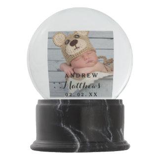 Custom Baby Photo Monogram Snow Globe