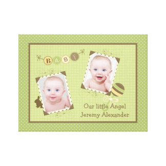 Custom Baby Photo Template Canvas Frame Picture Stretched Canvas Print