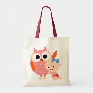 Custom Baby Shower/Birthday Owl Budget Tote Bag