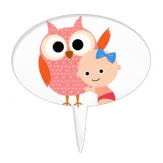 Custom Baby Shower/Birthday Owl Cake Topper