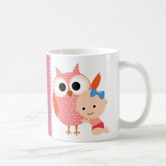 Custom Baby Shower Birthday Owl Coffee Mugs