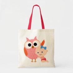 Custom Baby Shower/Birthday Owl Tote Bag at Zazzle