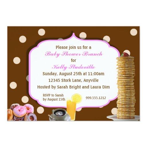custom baby shower brunch invitations zazzle