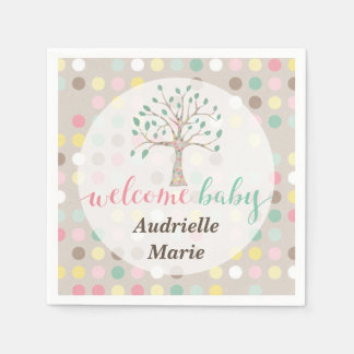 Custom Baby Shower Love Grows In Our Family Tree Napkin