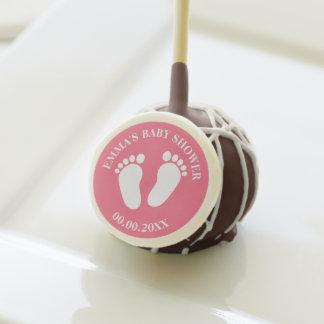 Custom baby shower party chocolate cake pops