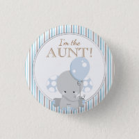 Custom Baby Shower Party I'M THE AUNT Button