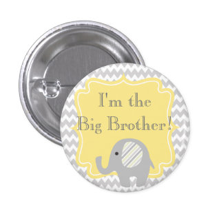 Custom Baby Shower Party I'm the Big Bro Button